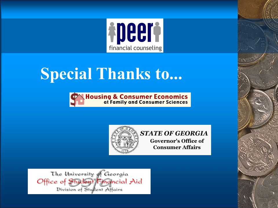 Special Thanks to... Special thanks to the organizations involved in bringing this module to you.
