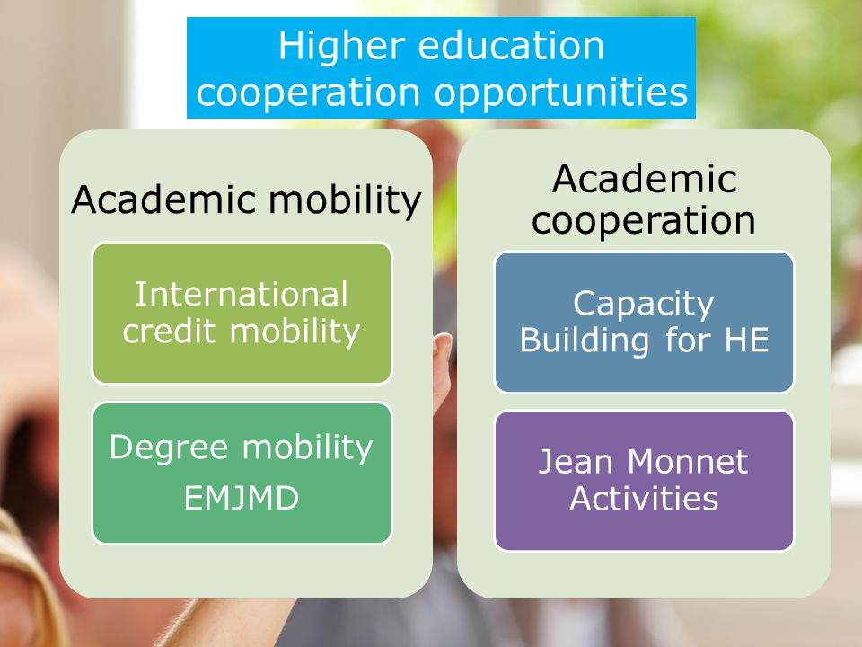 cooperation opportunities Academic mobility Academic cooperation