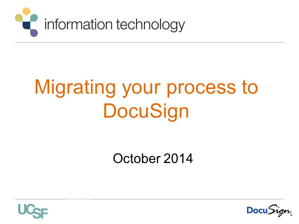 Migrating your process to DocuSign