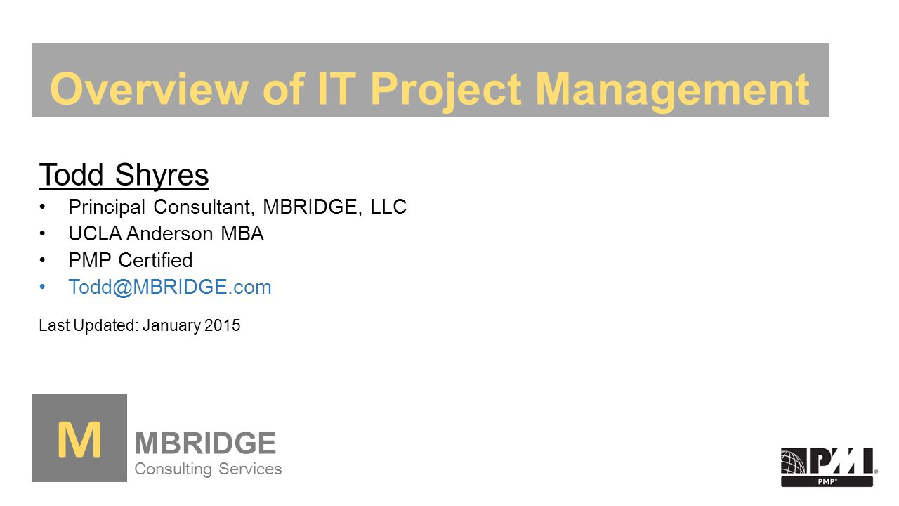 Overview Of It Project Management Ppt Download