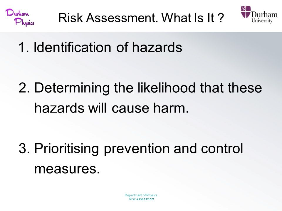 Risk Assessment. What Is It