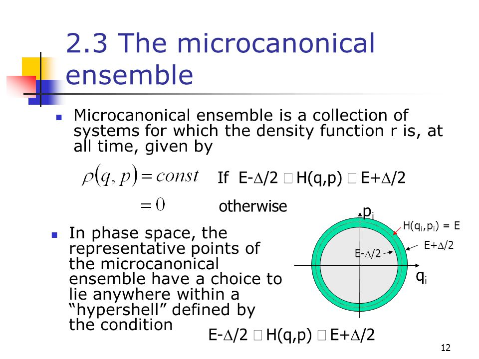 2.3 The microcanonical ensemble