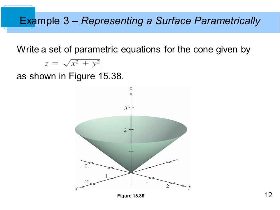 Example 3 – Representing a Surface Parametrically