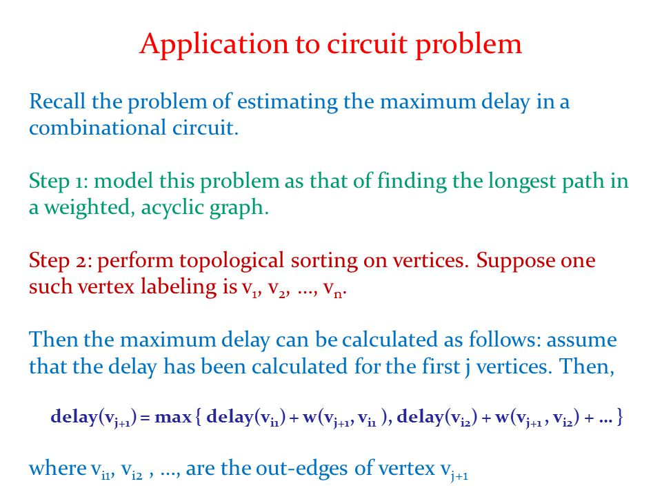 Application to circuit problem