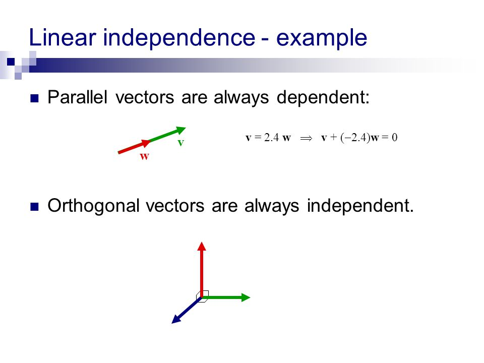 Linear independence - example