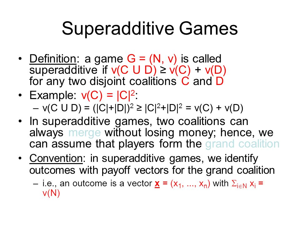 A Short Tutorial On Cooperative Games Ppt Video Online Download