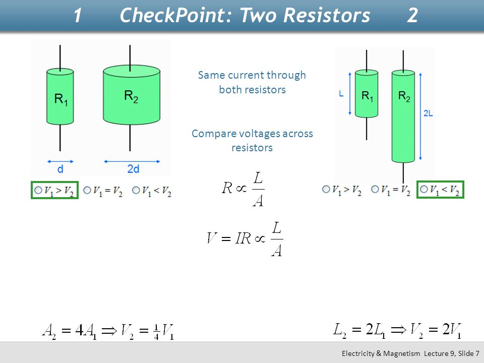 1 CheckPoint: Two Resistors 2
