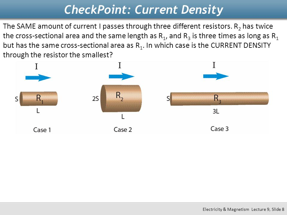 CheckPoint: Current Density