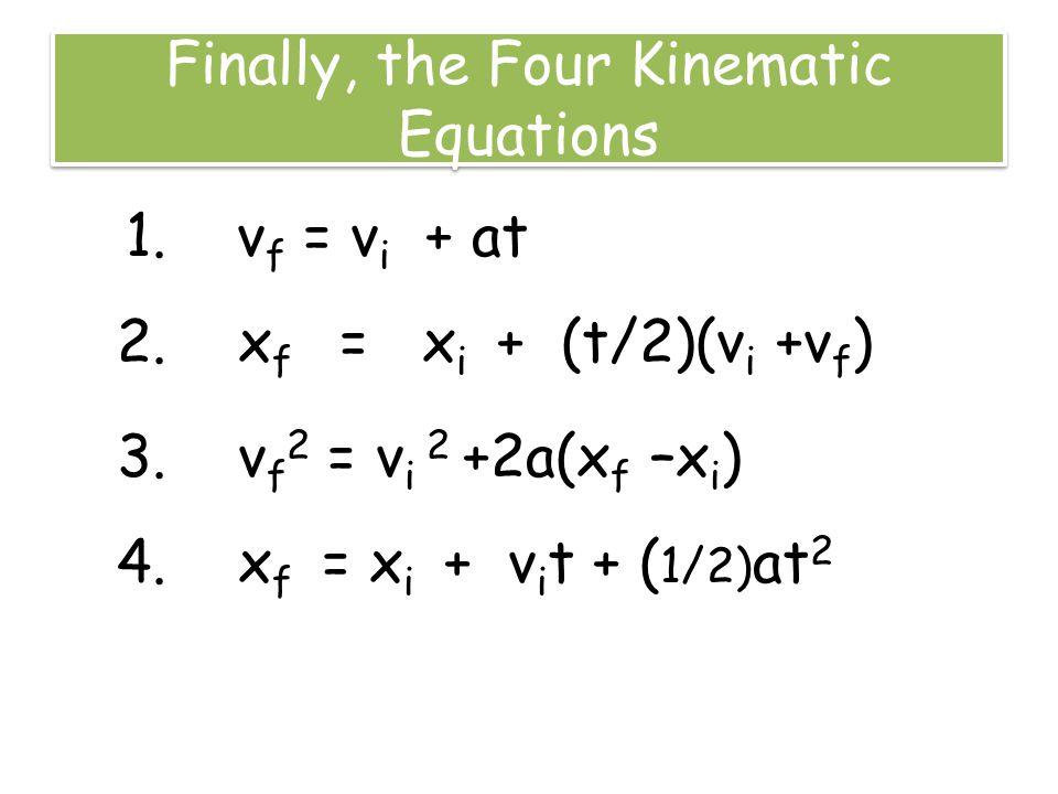 starter vf vi at rearrange the equation for acceleration ppt