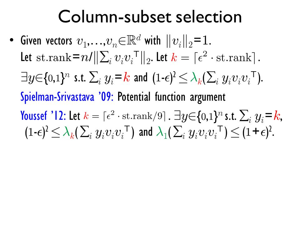 Column-subset selection