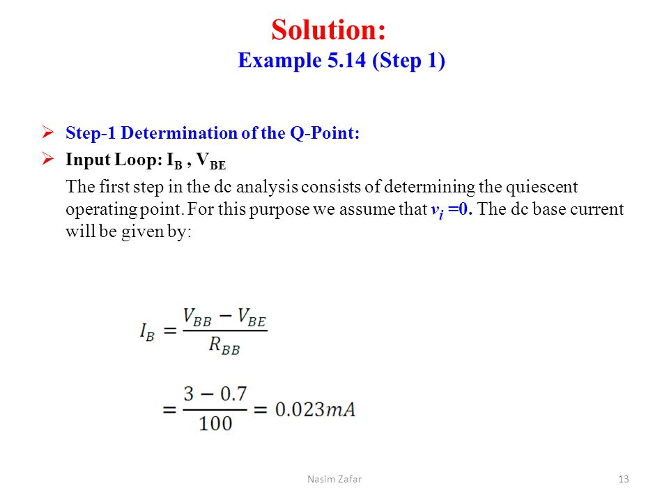 Solution: Example 5.14 (Step 1)
