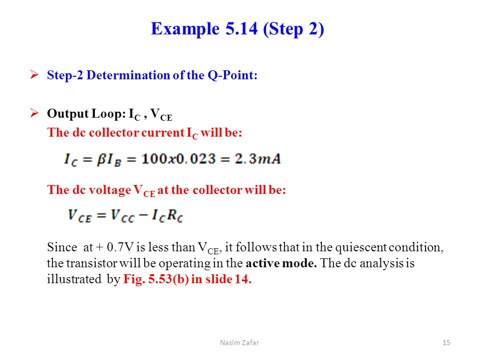 Example 5.14 (Step 2) Step-2 Determination of the Q-Point: