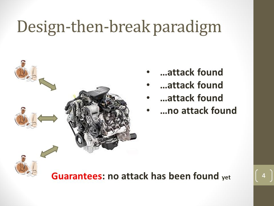 Design-then-break paradigm