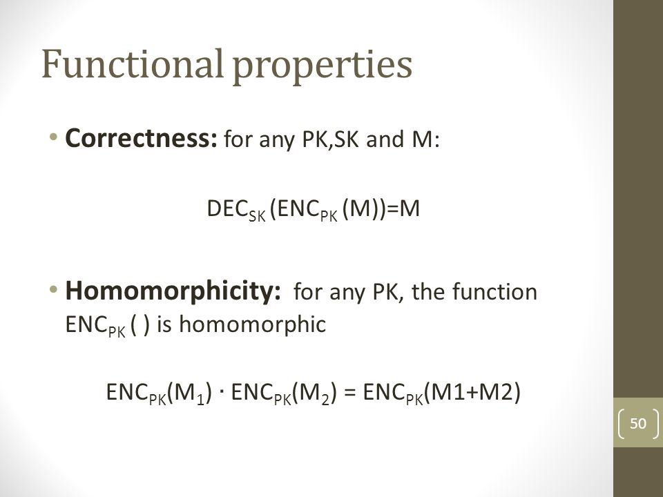 Functional properties