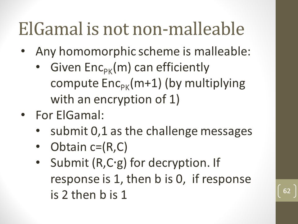 ElGamal is not non-malleable