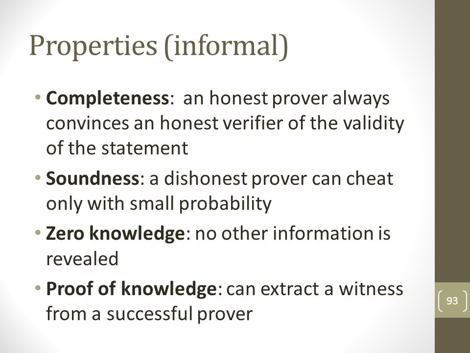 Properties (informal)