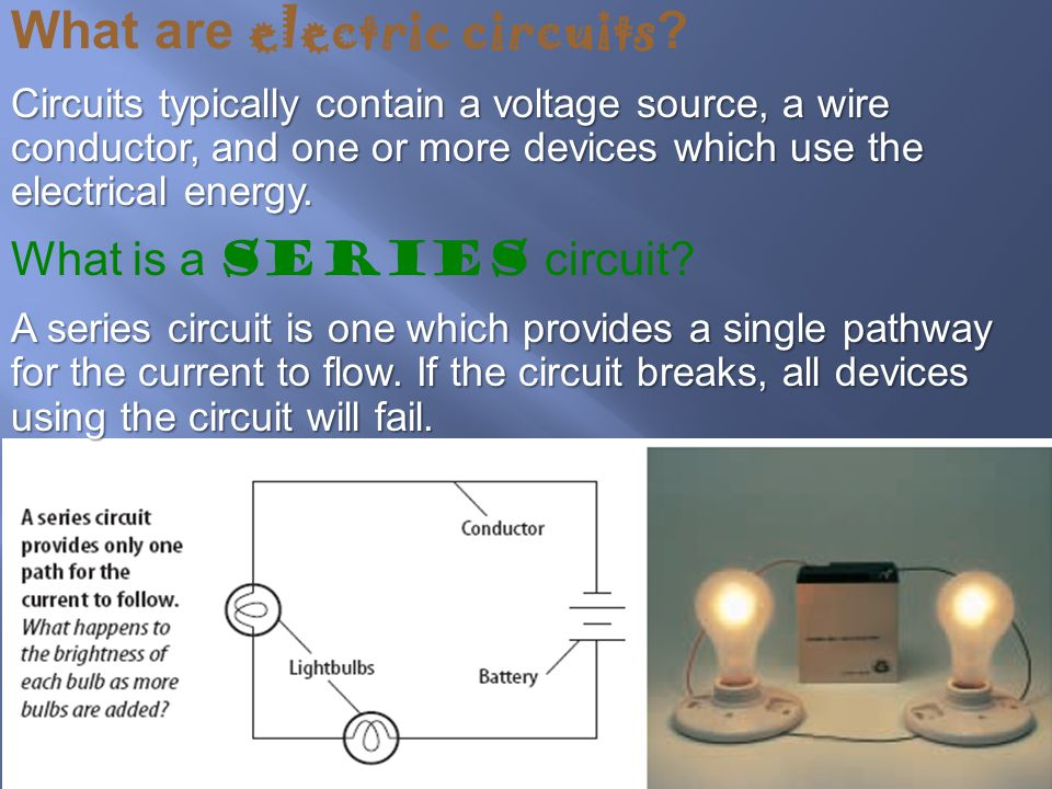 What are electric circuits
