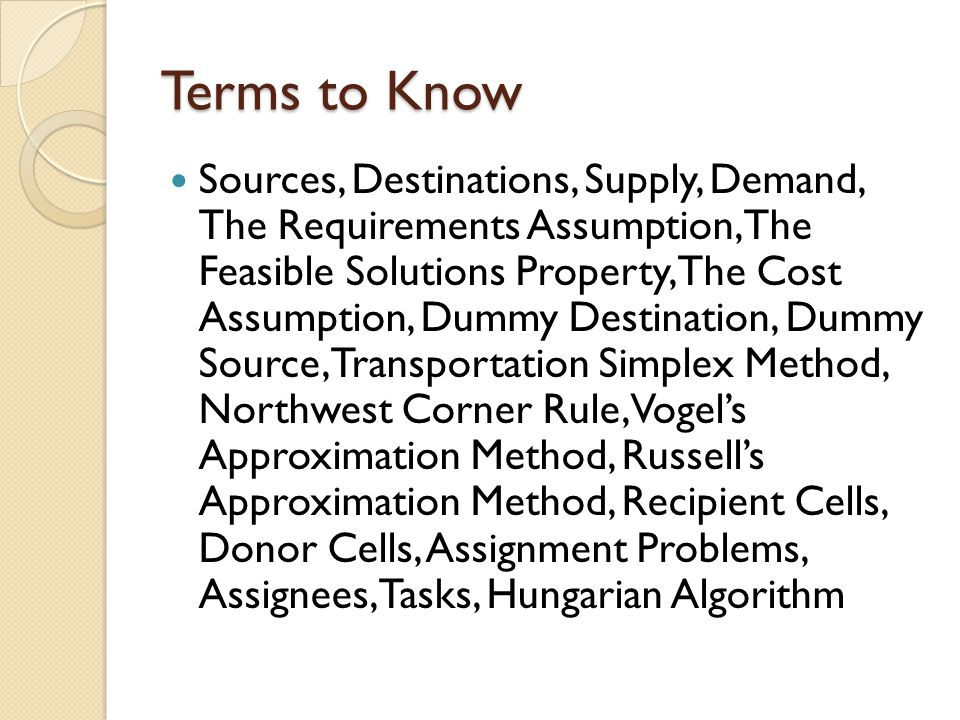 transportation and assignment problems and solutions