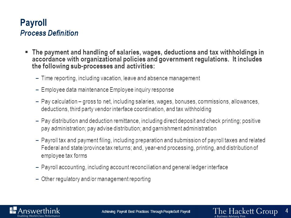 Payroll Process Definition