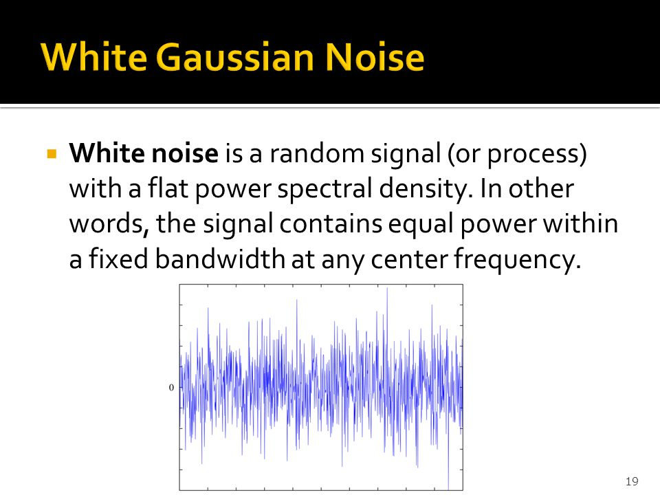 White Gaussian Noise