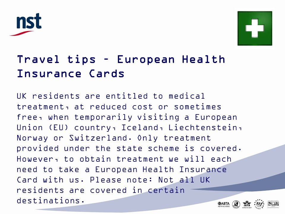 Travel tips – European Health Insurance Cards