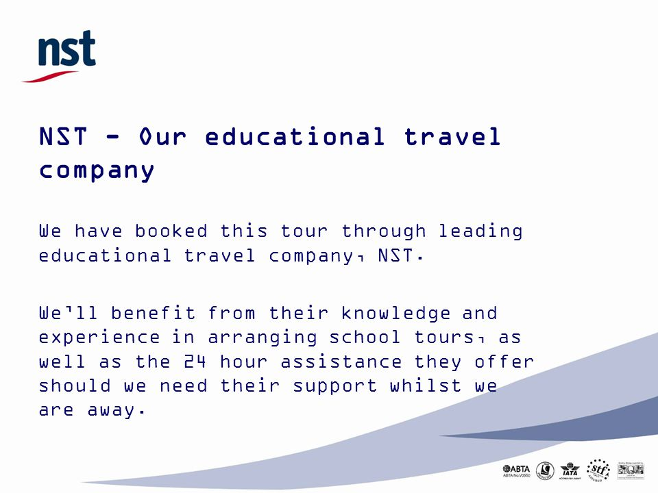 NST - Our educational travel company