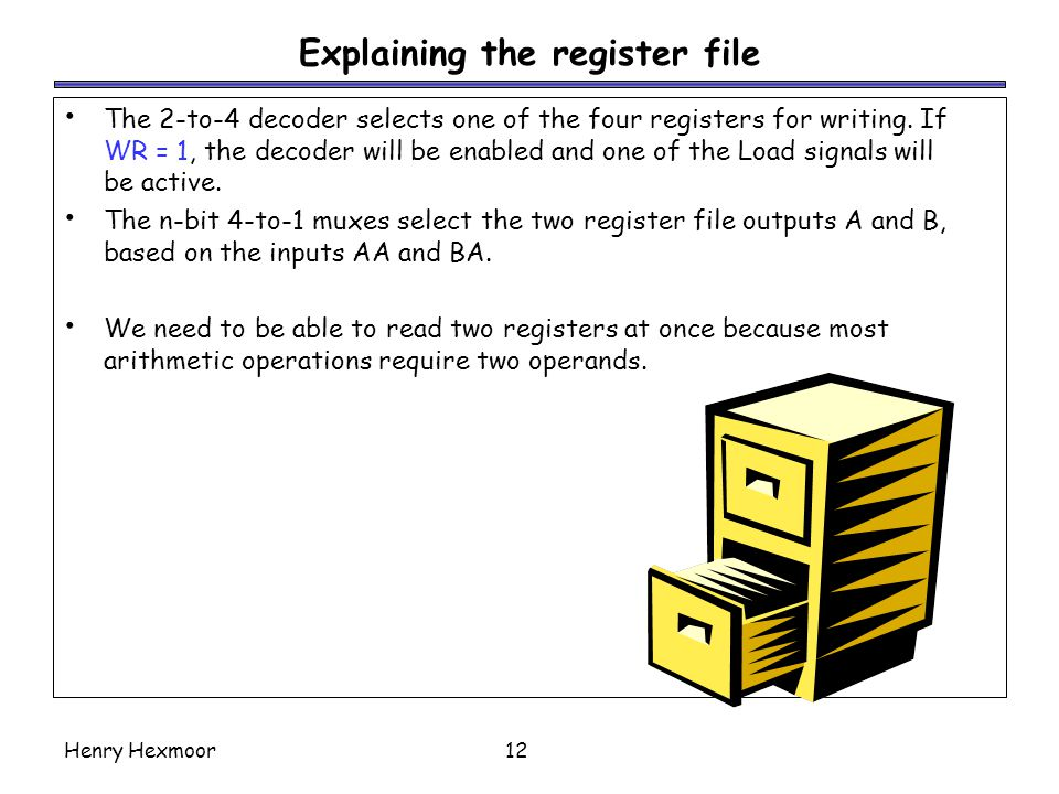 Explaining the register file