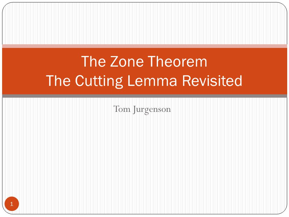 The Zone Theorem The Cutting Lemma Revisited