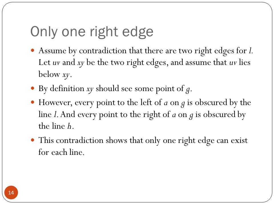 Only one right edge