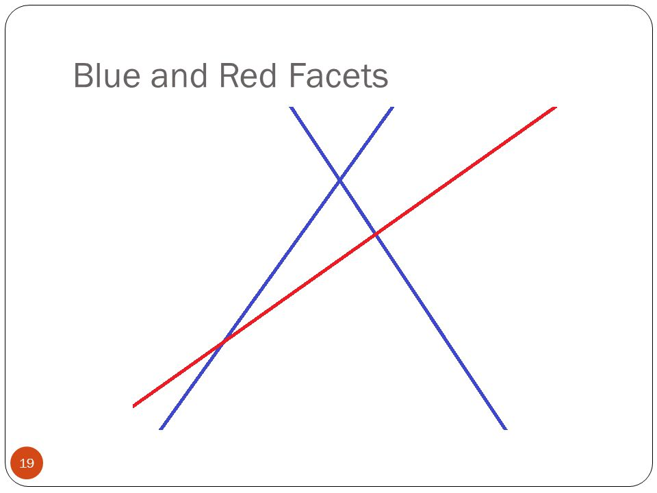 Blue and Red Facets