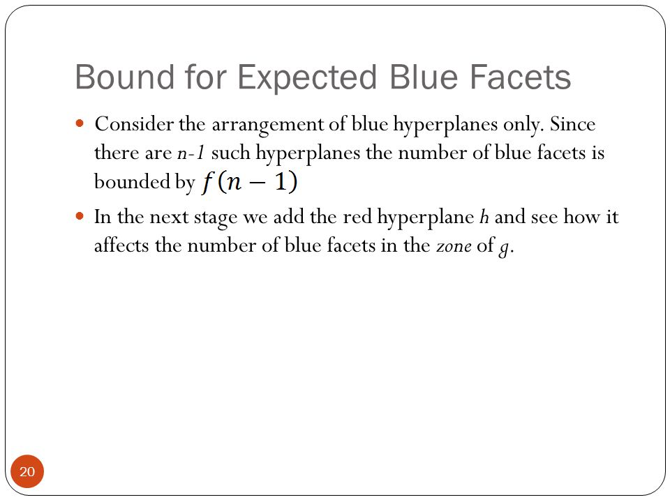 Bound for Expected Blue Facets
