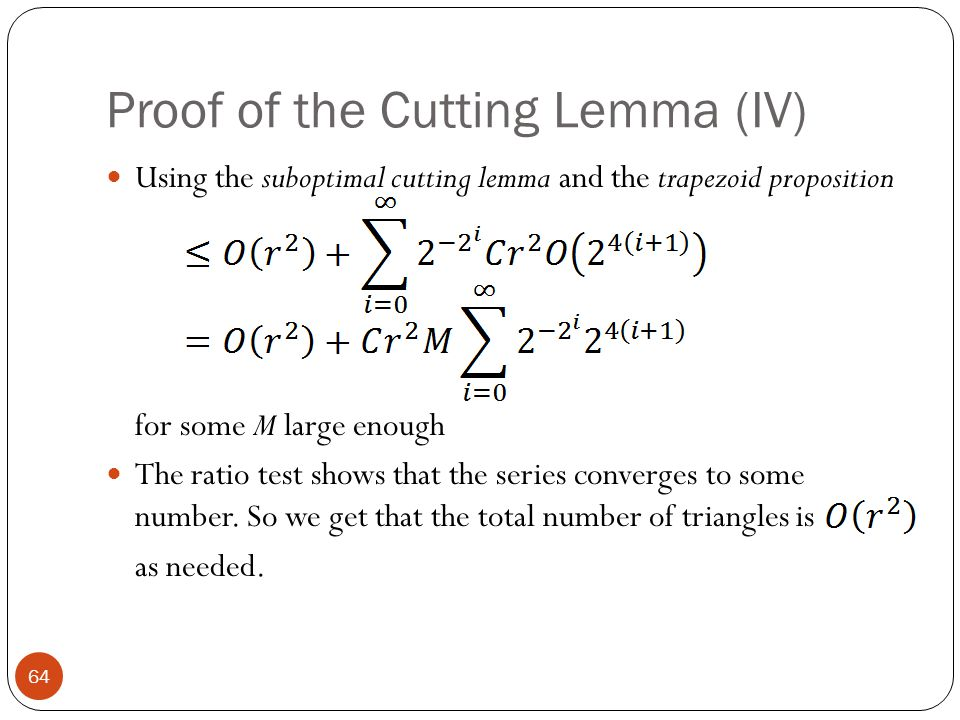 Proof of the Cutting Lemma (IV)