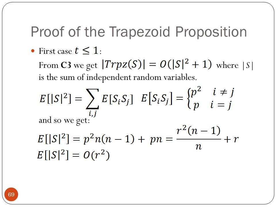 Proof of the Trapezoid Proposition