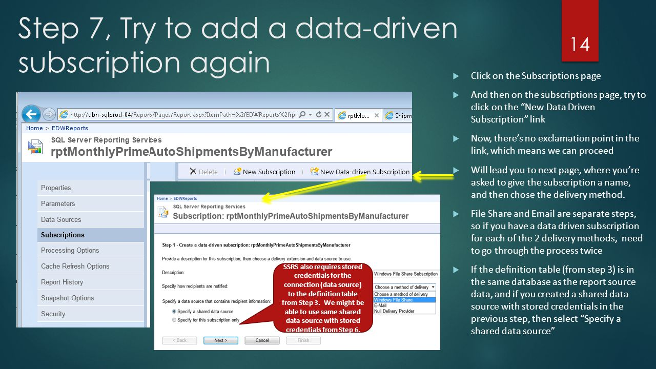 Reporting Services – Data Driven Subscriptions - ppt video