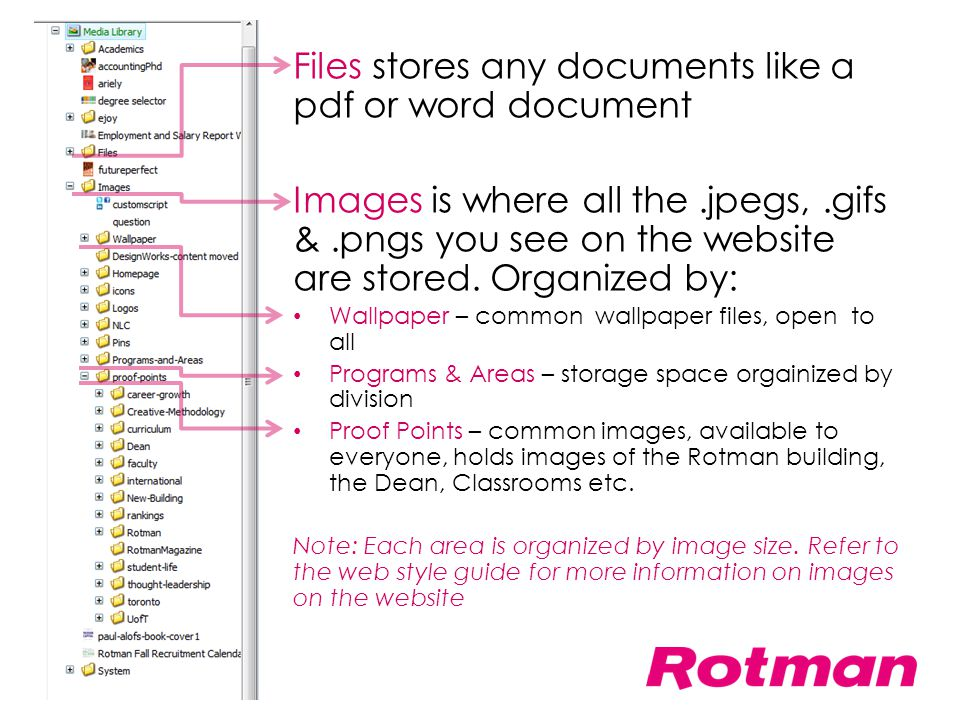 Files stores any documents like a pdf or word document