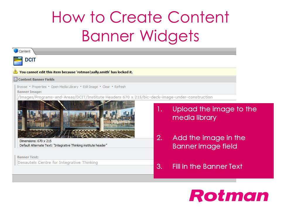 How to Create Content Banner Widgets