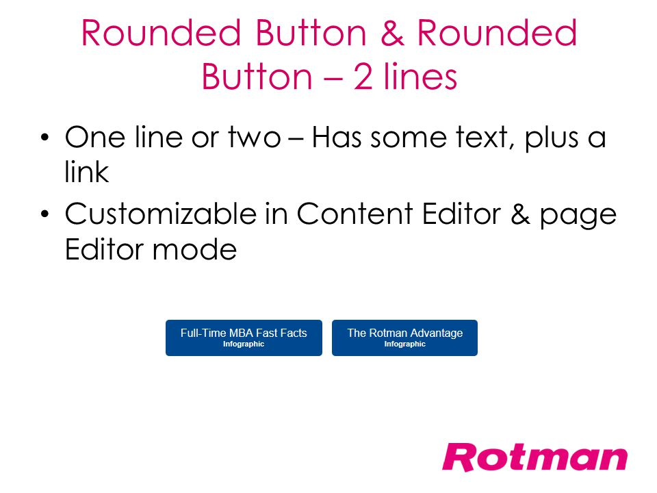Rounded Button & Rounded Button – 2 lines
