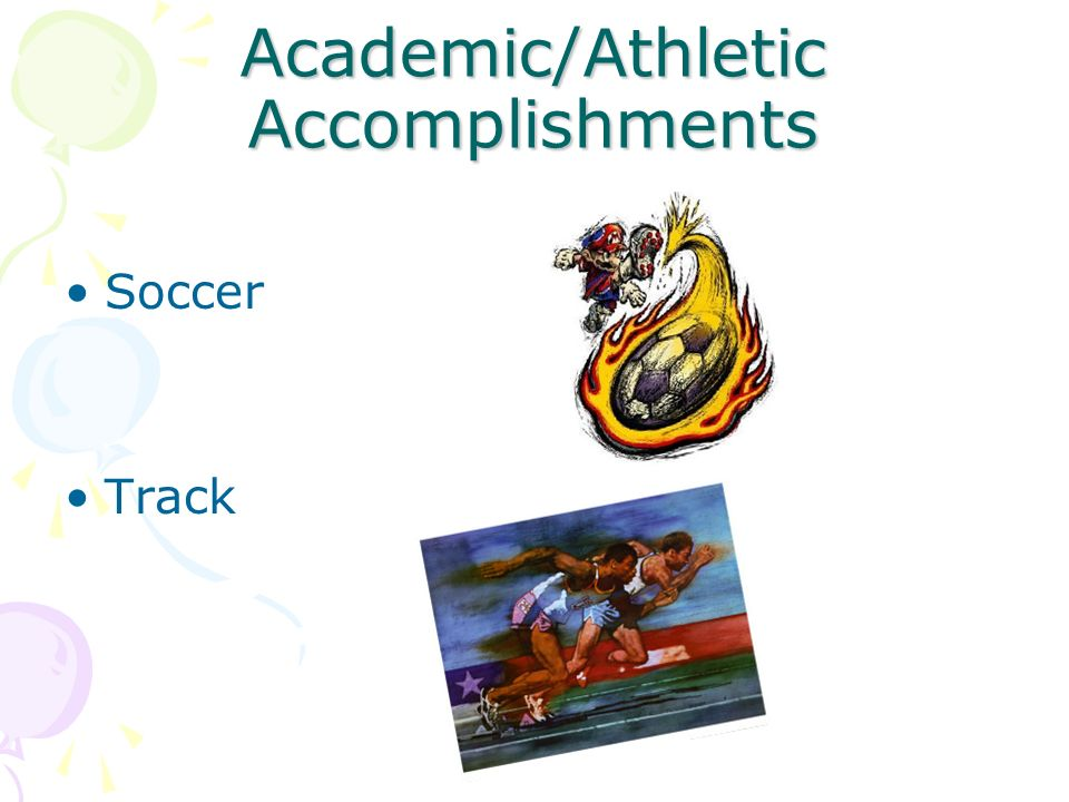 Academic/Athletic Accomplishments