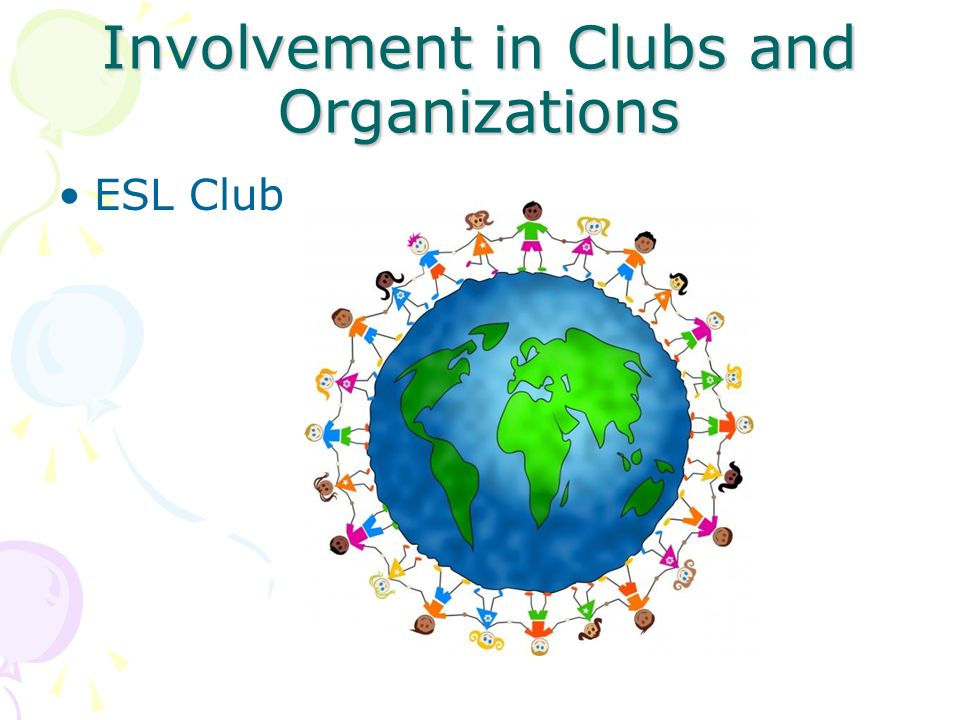Involvement in Clubs and Organizations