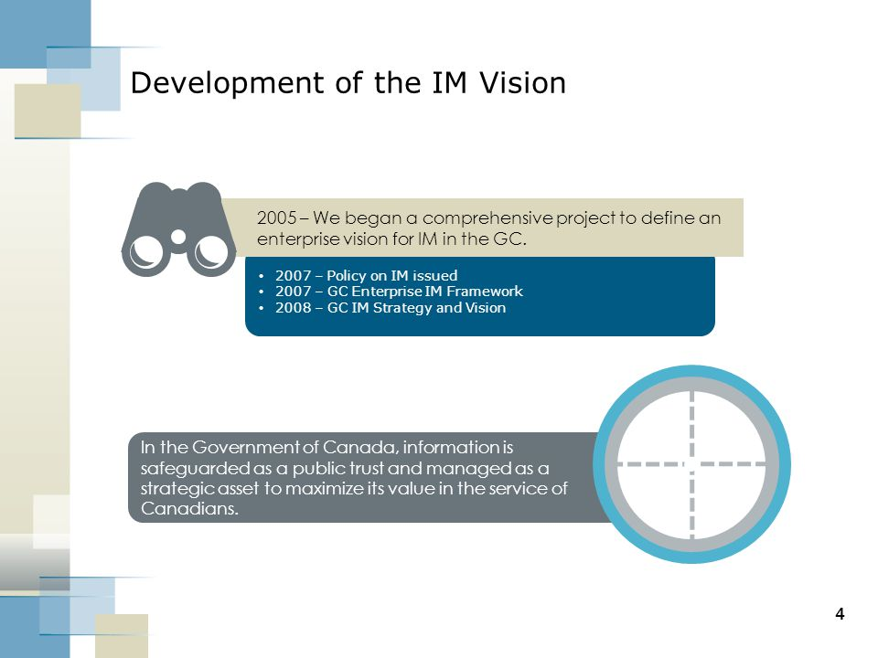 Development of the IM Vision