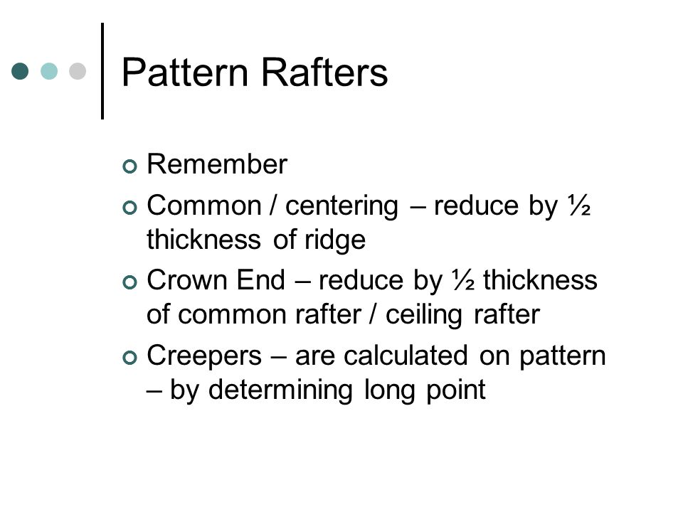 Pattern Rafters Remember