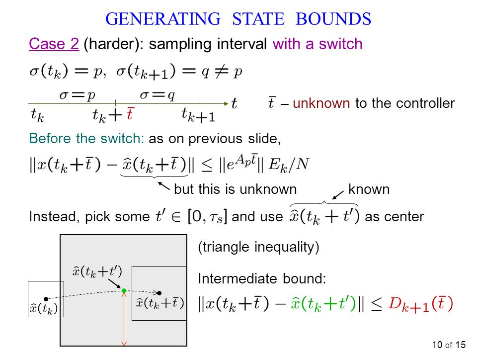 GENERATING STATE BOUNDS
