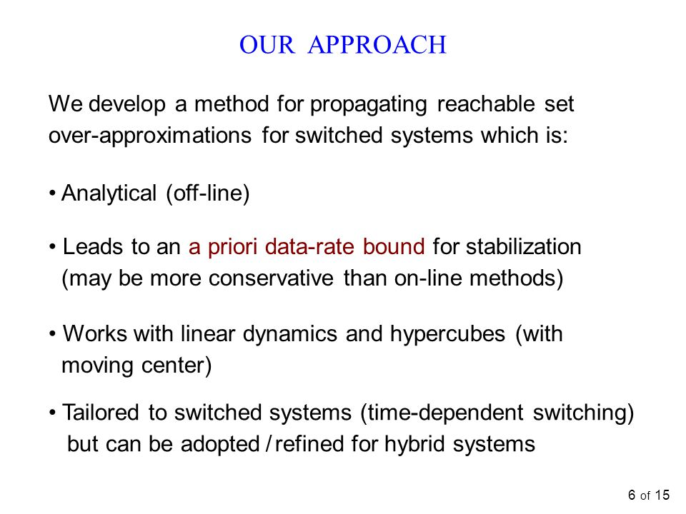 OUR APPROACH We develop a method for propagating reachable set