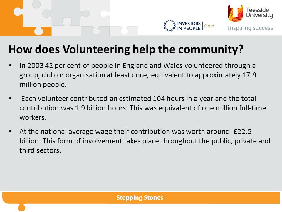 How does Volunteering help the community