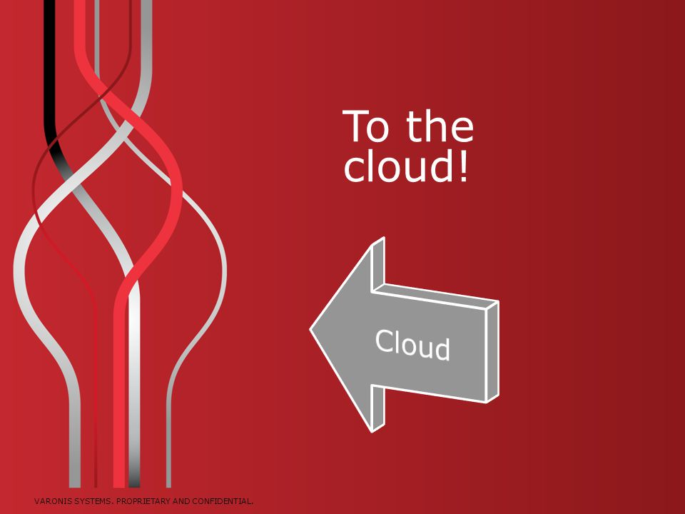 To the cloud! Cloud. The first option we're going to look is moving data to the cloud.