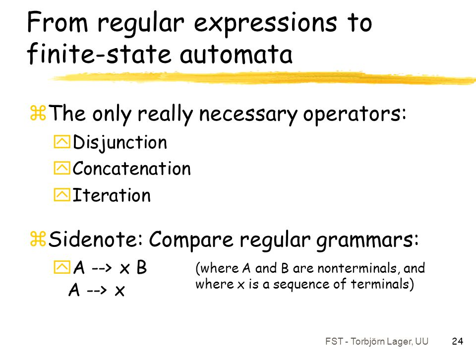 From regular expressions to finite-state automata