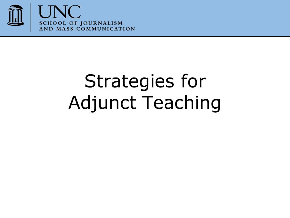 Strategies for Adjunct Teaching