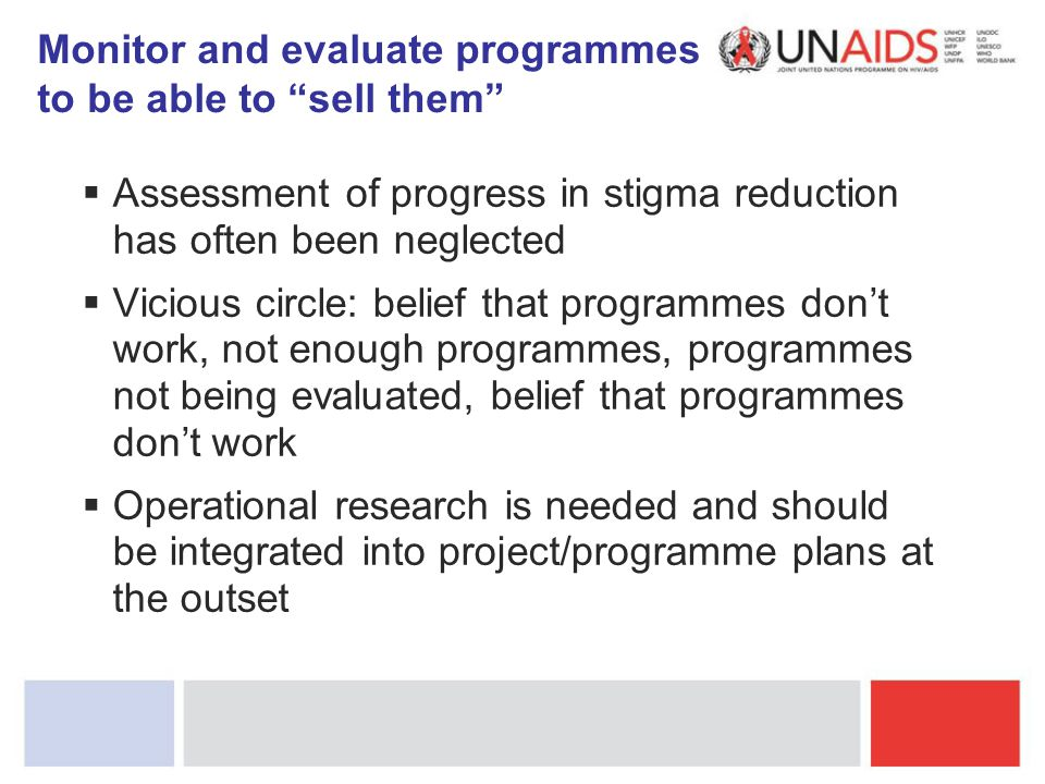 Monitor and evaluate programmes to be able to sell them