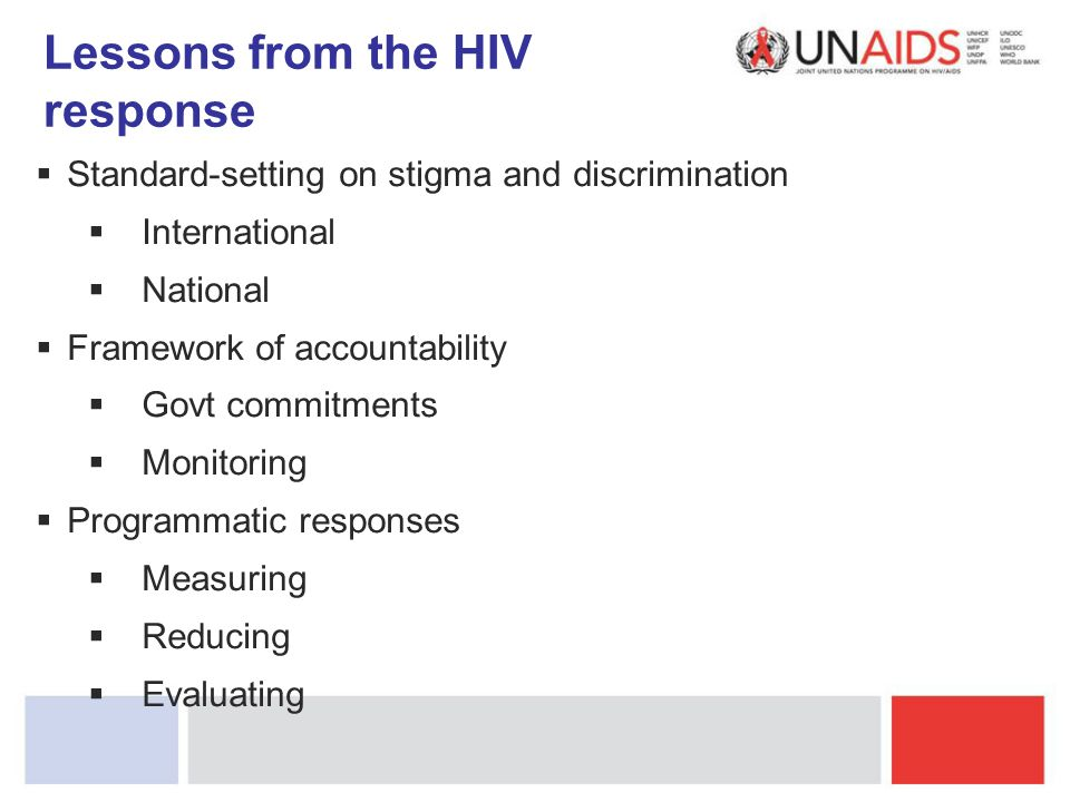 Lessons from the HIV response