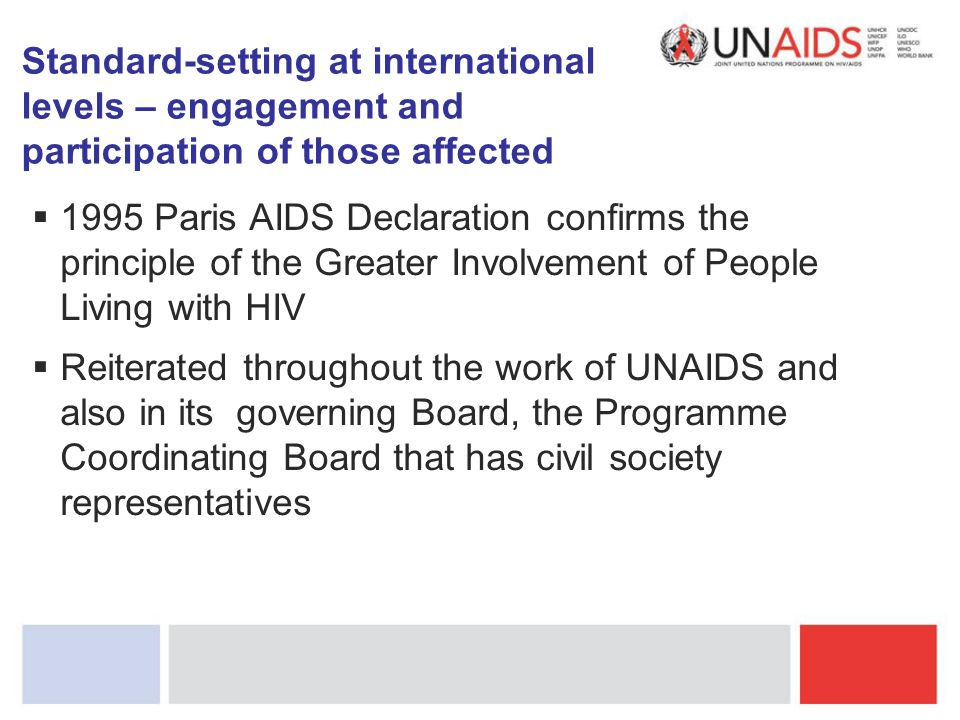 Standard-setting at international levels – engagement and participation of those affected